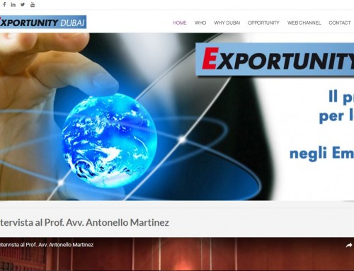 Exportunity Dubai – realizzazione portale commercio estero